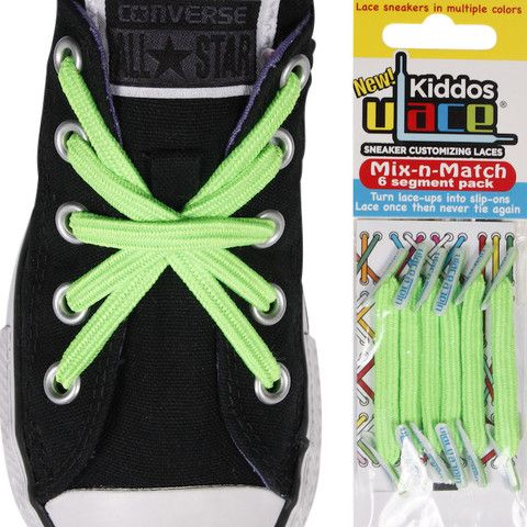 U-Lace Kiddos Mix-n-Match Pack - Bright Green