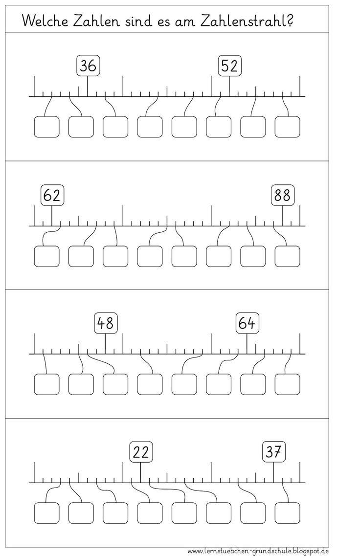 lernst bchen zahlenstrahl ab 4 mathe pinterest math school and teaching ideas. Black Bedroom Furniture Sets. Home Design Ideas
