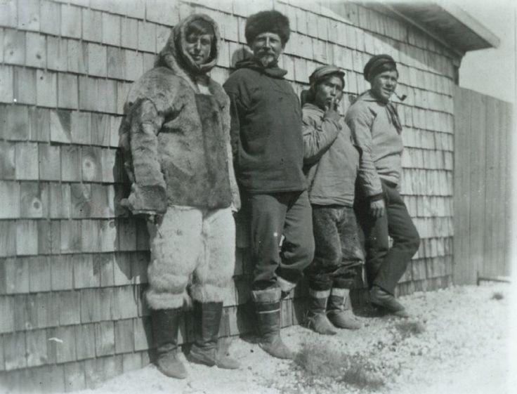 L. Mylius-Erichsen during their stay in Ivigtut with Knud Rasmussen, Osaqaq and Jørgen Brønlund