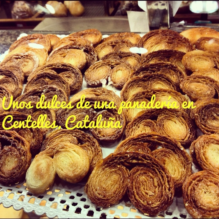 Sweet pastries from a bakery in Centelles, Catalonia.