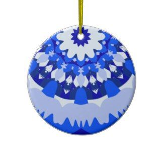 Winter Holiday Fractal Christmas Ornament