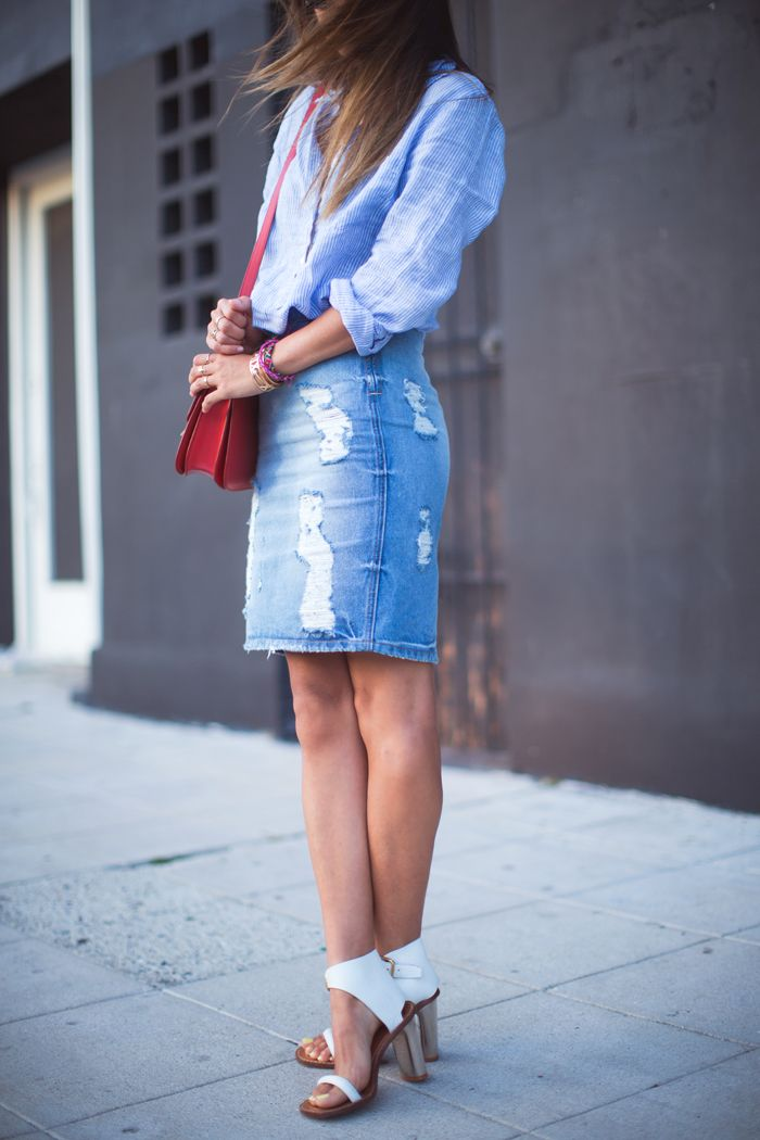 Song of Style Denim Skirt