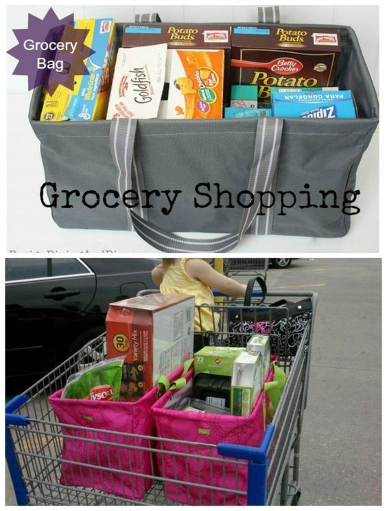 Your BFF at any grocery store: The Large Utility Tote from Thirty-One!