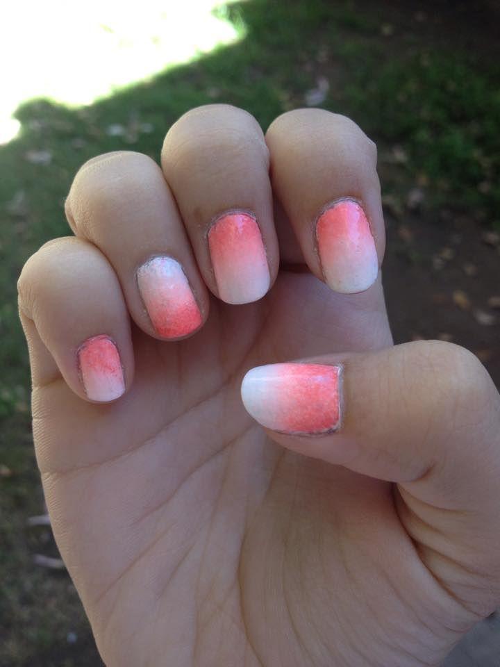 uñas pink degradé