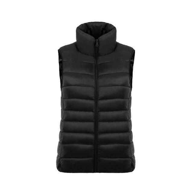 Yayu Mens Packable Vest Stand Collar Lightweight Sleeveless Jacket