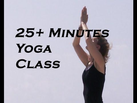 Yoga for Complete Beginner's Class - 25 minutes with Music & Meditation - YouTube