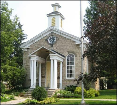 The Ancaster Township Hall built in 1872, one of our village's finest examples of stone architecture.