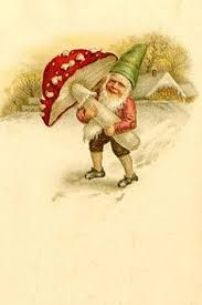 Image result for vintage gnomes mushrooms clipart