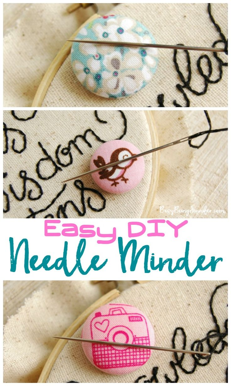 Easy DIY Needle Minder for Hand Embroidery and Hand Stitching - BusyBeingJennifer.com