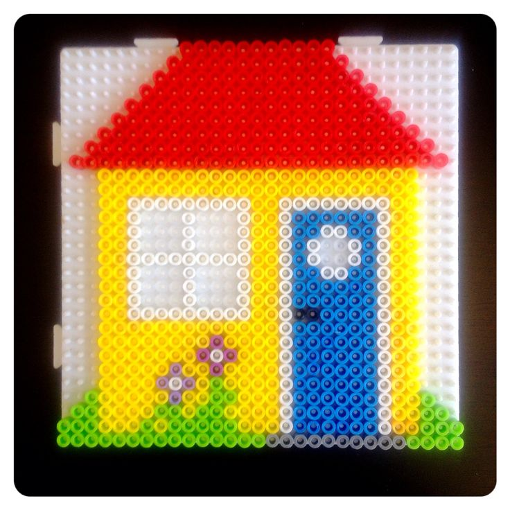 32 best hama bead new home images on pinterest perler - Motif perle a repasser ...