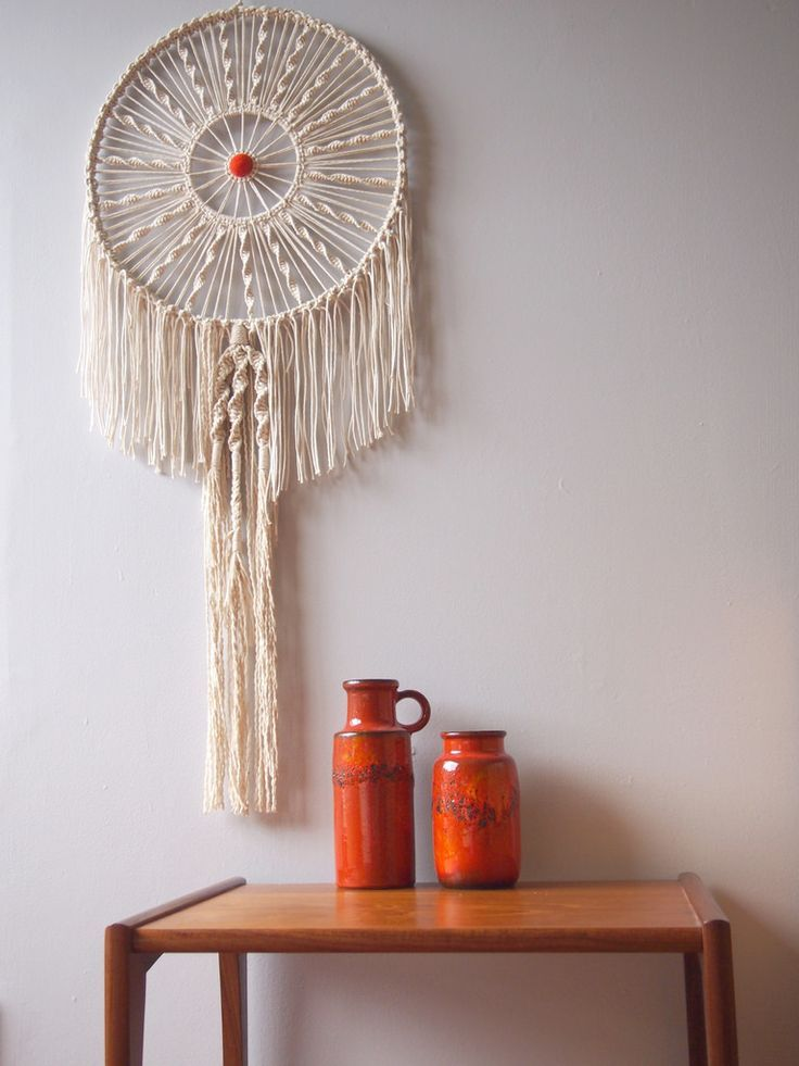 how to make a circular macrame wall hanging: