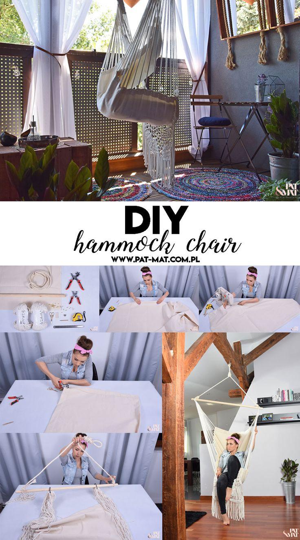 DIY #HAMMOCK #CHAIR #hanging #chair #diy Jak zrobic #krzesło #brazylijskie #siedzisko # wiszące #hamak #diy #zrobtosam #macrame #makrama