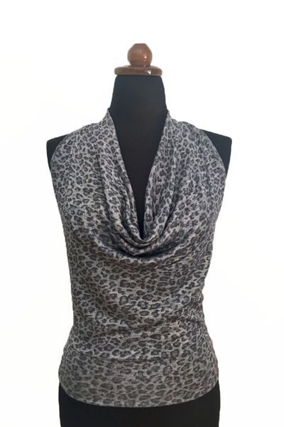 conDiva Gray Tango Top with Draped Neck | Tango Outfits #tangooutfit #argentinetango #milongaoutfit #milongaclothes https://condiva.com/collections/new-items/products/gray-tango-top-with-draped-neck