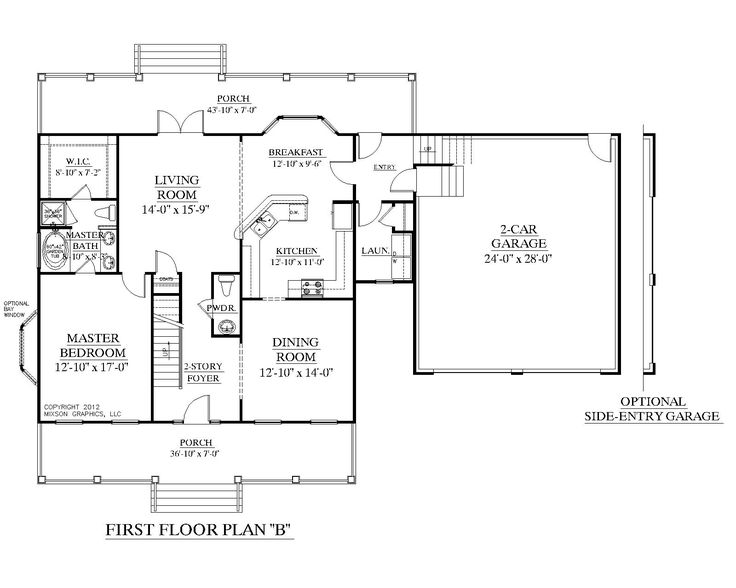 House Plan 2109 B Mayfield B First Floor Plan Colonial