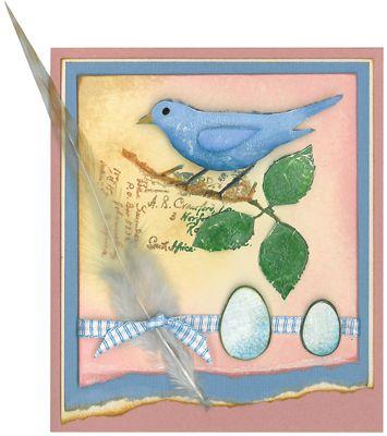 Stamp-it Australia: siset067 Swirly Bird  - Card by Susan