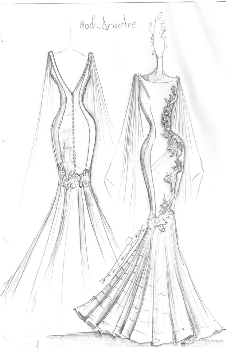 Boceto vestido de novia del dise ador francisco tamaral for Dibujos de disenos de moda