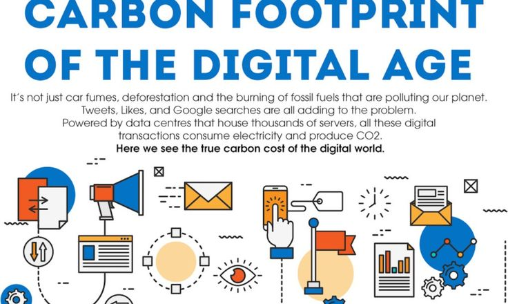 Your carbon footprint is greater than just the fossil fuels burned in traveling and construction—it encompasses your digital activities too.