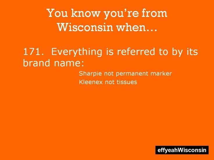 you know you're from wisconsin when | Visit effyeahwisconsin.tumblr.com