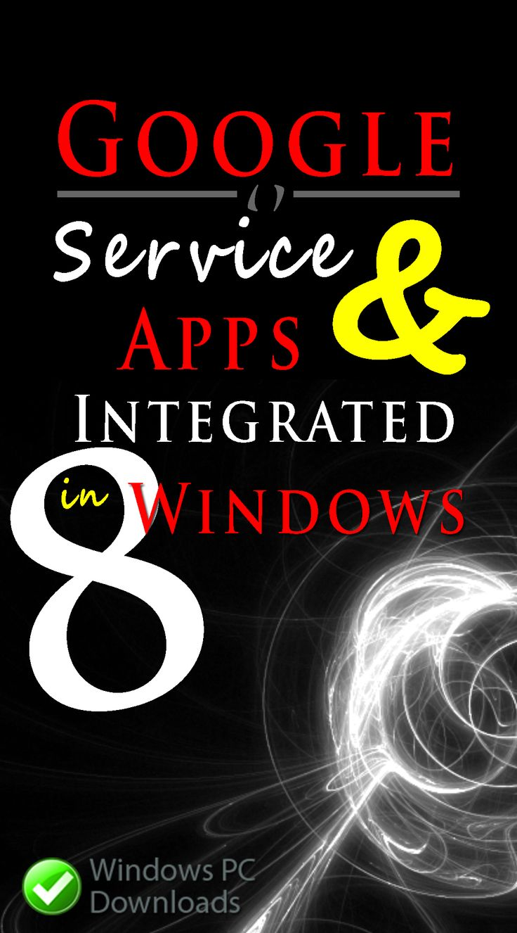 Google Services and Apps Integrated in Windows 8 At the