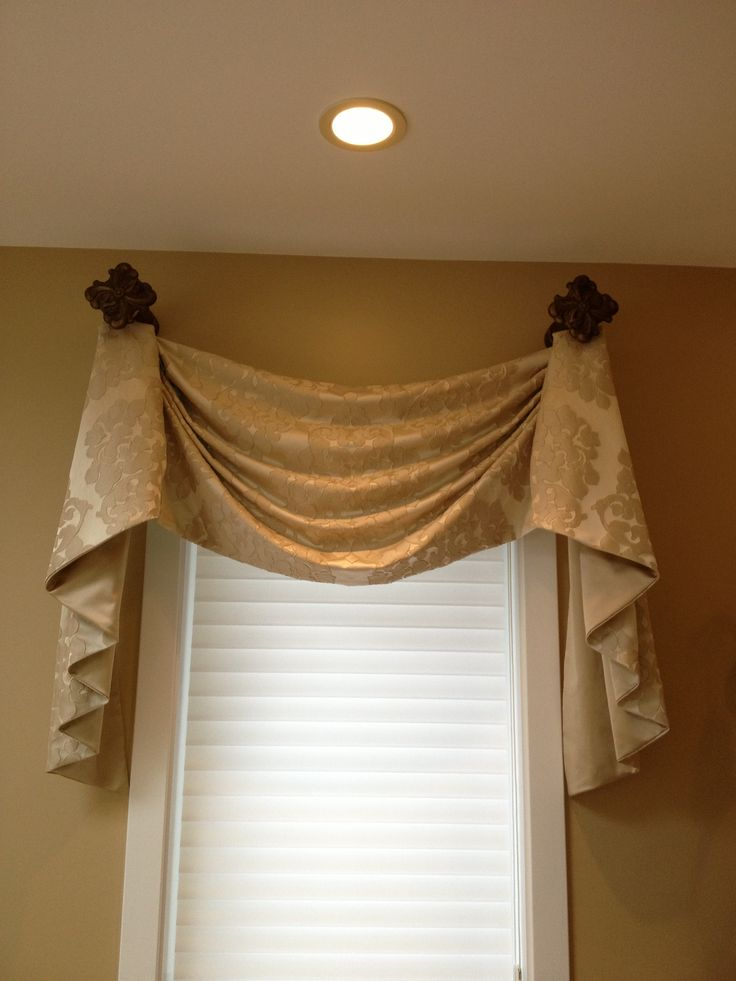 Kingston valance with tails for a master bath valances for Bathroom design kingston