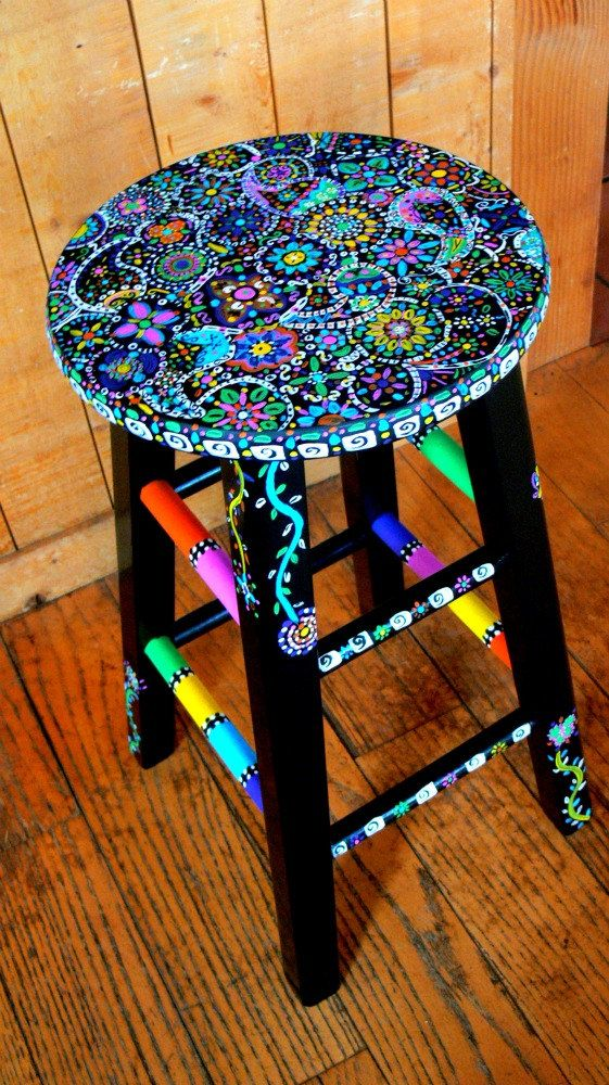 4 Handpainted Counter Chairs for Katie Riley @ $250/each    $500.00 down the remainder upon delivery  $50.00 Delivery    Total $1050.00