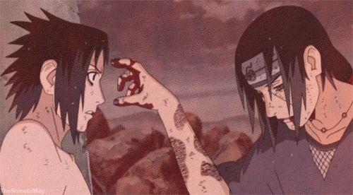 """Perdóname Sasuke no habrá próxima vez, esto es todo"". (Últimas palabras de Itachi a Sasuke antes de morir)"