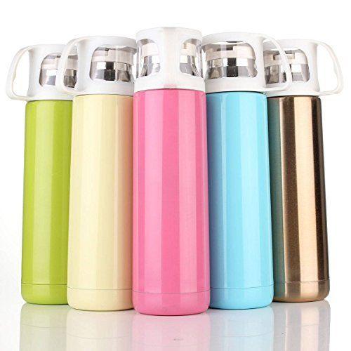 CAMTOA 500ml Mug de thé Bouteille d'eau Tasse café Vacuum Isotherme Chaud / Froid Portable Voyage: Material: acier inoxydable + PP Hauteur:…
