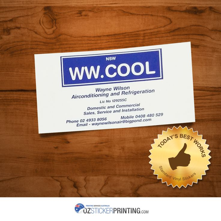 Wayne Wilson Airconditioning & Refrigeration Standard Vinyl Stickers (100x50mm - Rectangle) Time to have your own outstanding quality vinyl stickers with the lowest price offered. Enquire us now!