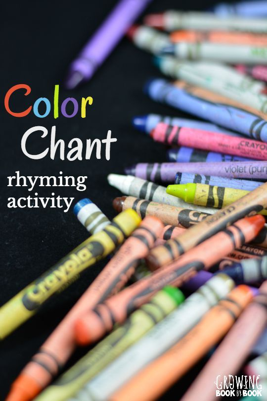 A quick and easy phonological awareness rhyming activity that works well with a color themed unit.