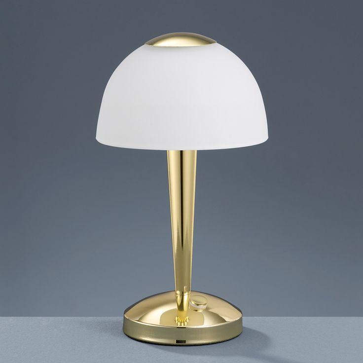 Messing LED-Tischlampe mit Berührungsdimmer