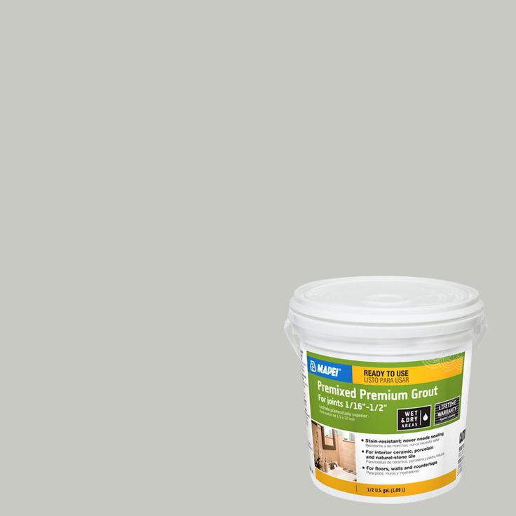 MAPEI 0.5-Gallon Warm Gray Sanded Premixed Grout