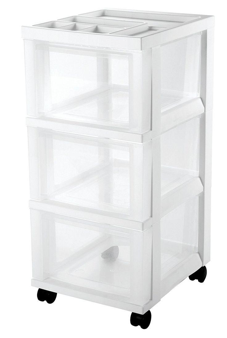 14 25 Quot D X 12 05 Quot W Amazon Com Iris 3 Drawer Storage Cart