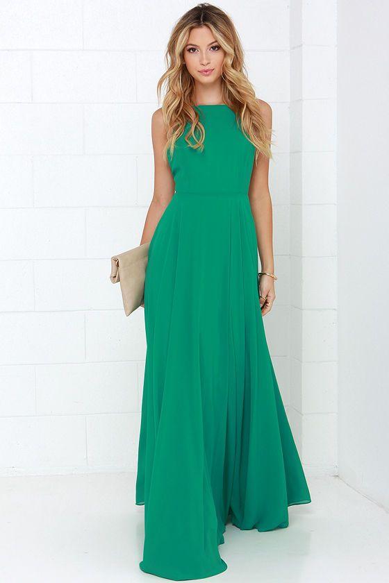 Tipo mítica do amor vestido verde Maxi na Lulus.com!