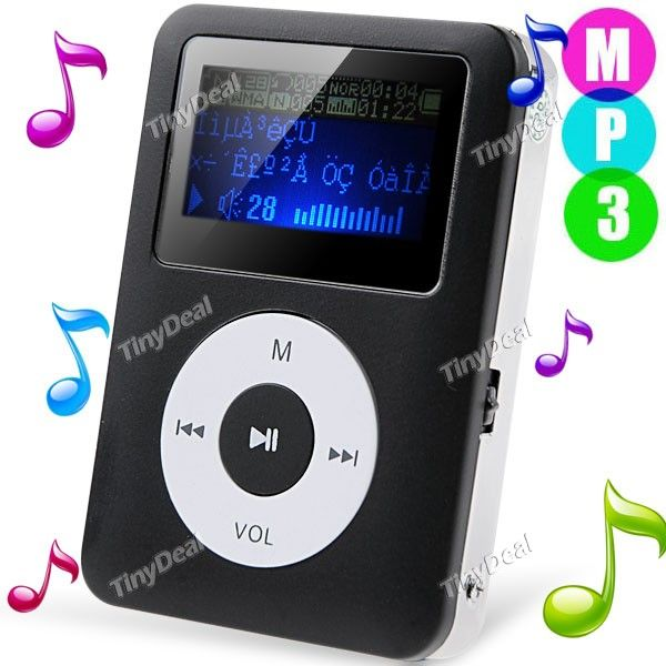http://www.tinydeal.com/it/mini-lcd-display-mp3-player-music-player-w-tf-card-slot-p-79501.html   Mini LCD Display Digital MP3 Player Music Player