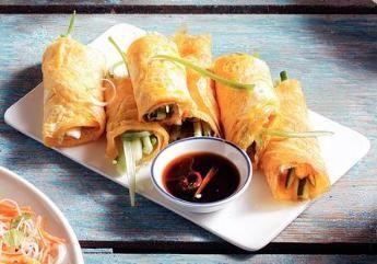 Borrelhapjes van Vietnamese groenteomeletjes