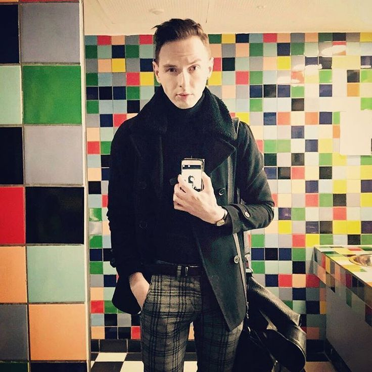 "turtleneck-lover: ""littleartfox: ""Not amused to be back at work meeeehhhh #selfie #bathroom #work #christmas #gallery #nationalgalleries #colours #tiles #gay #gayboy #gingergay #gayselfie #meh #hungover #working #tartan #tartantrousers #rough..."