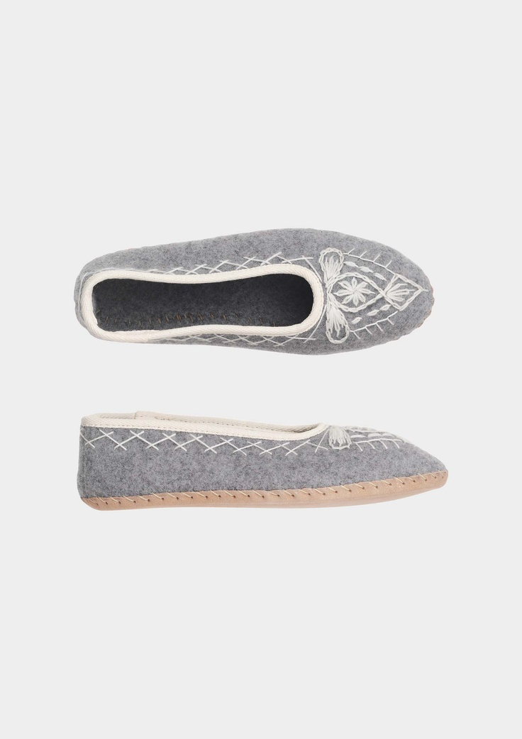 cosy wool slippers by toast