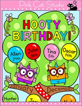 Smarty Pants Owls Theme Birthday Board - Back to School Decor