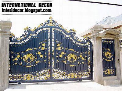 modern sliding iron gate design UK, outdoor sliding gates