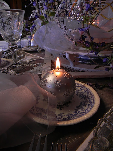 ball candleX Mas Tables B, Pretty Christmas, So Pretty, Candle'S Very Pretty, Christmas Tablescapes