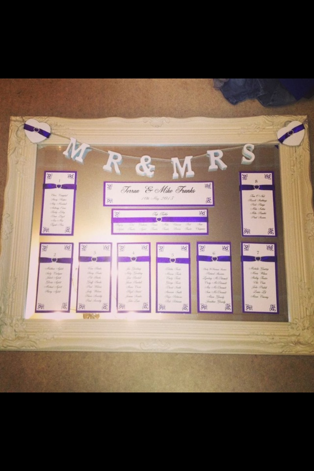 Purple mirror table plan diy