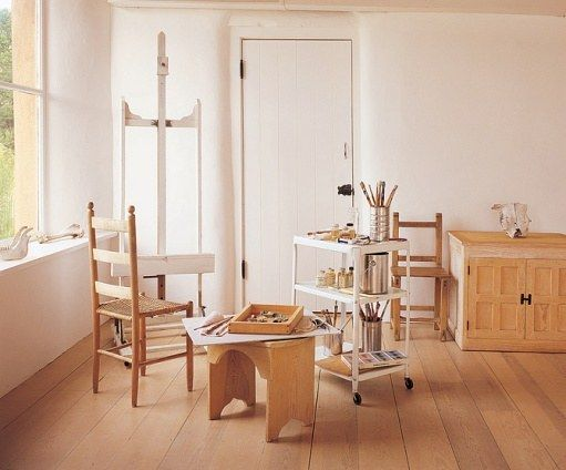 Georgia O'Keefe's Ghost Ranch - studio at Ghost Ranch remained an austere space with few furnishings