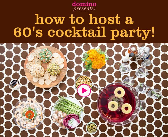 Learn how to host a 60's cocktail party on domino.com