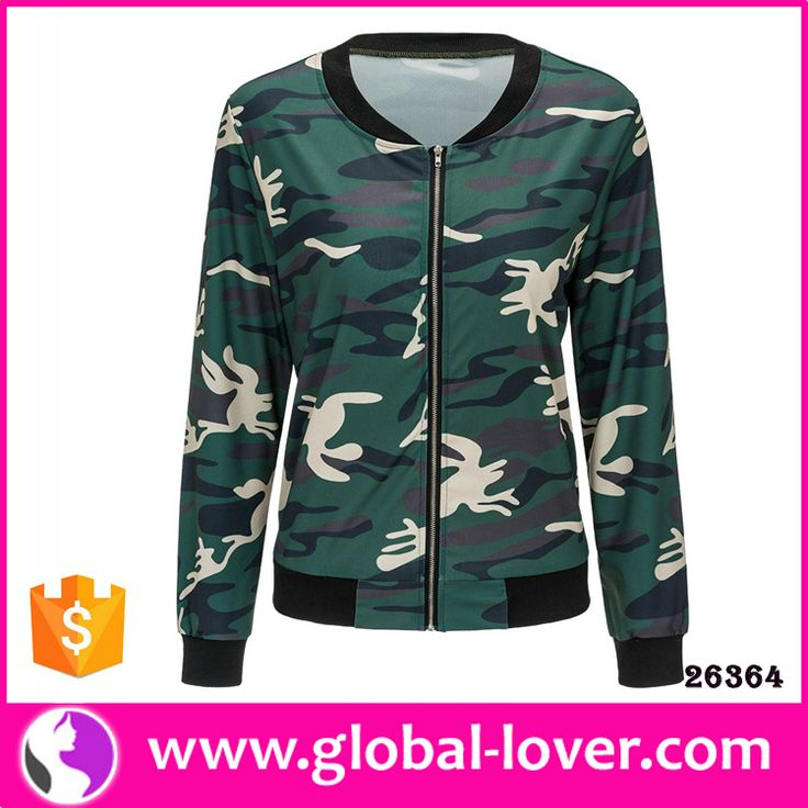 2017 woman clothing wholesale cheap windbreaker camo jackets women