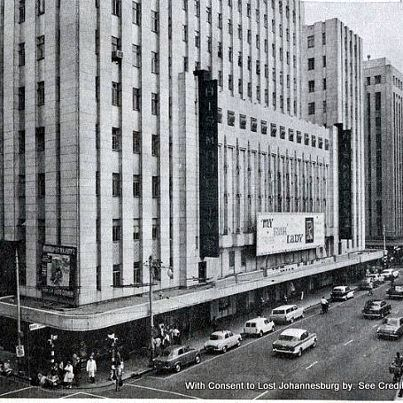 His Majesty's Theatre at the film of My Fair Lady. His Majesty's Theatre was situated in Commissioner Street (between Eloff and Joubert Streets) and was opened by General Jan Smuts (then Prime Minister of the Union Of South Africa) on 23rd December 1946 as a legitimate theatre presenting live stage productions. The theatre was designed by Morris Cowen at the behest of Mr. I. W. Schlesinger, head of the Schlesinger Organisation