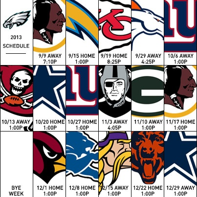 Eagles schedule 2013