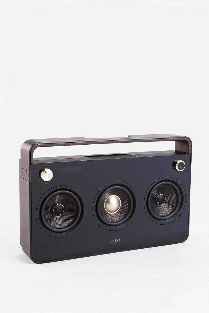 TDK Boombox. That's cool. Just the speakers out front, nothing to distract from the sound.