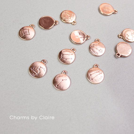 Hey, I found this really awesome Etsy listing at https://www.etsy.com/listing/450234142/rose-gold-zodiac-disc-charms-rose-gold