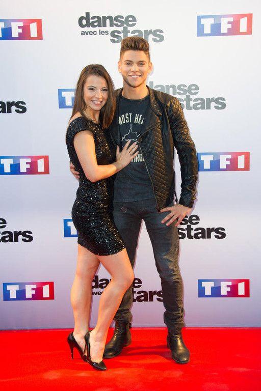 L'acteur Rayane Bensetti et Denitsa Ikonomova lors de la conférence de presse de lancement de la saison 5 de Danse avec les Stars