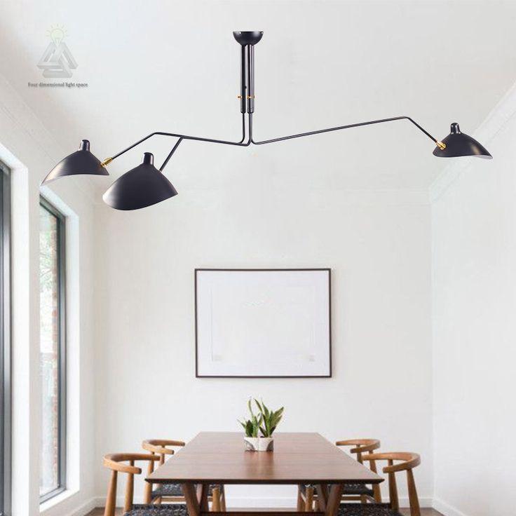 Modern home decor single head living room Serge Mouille ceiling light bedroom duckbilled light dining room light free shipping
